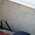 Settlement Crack found during a home inspection in Barrie ON