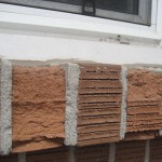 Damaged window sill brick found on barrie home during inspection