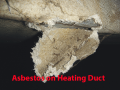 asbestos on heating duct